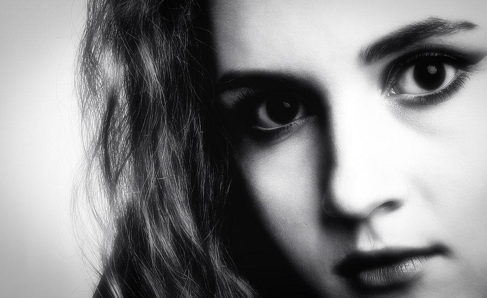 Beautiful dark eyes beautiful face