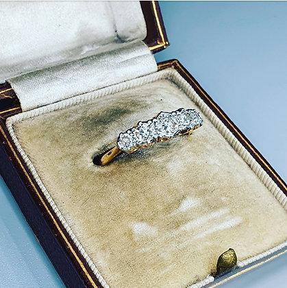 Vintage diamond five stone ring