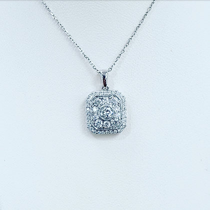 Diamond square necklace.