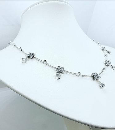 Diamond floral collar