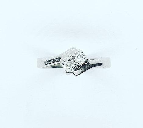 """Diamond """"toi et moi"""" ring"""