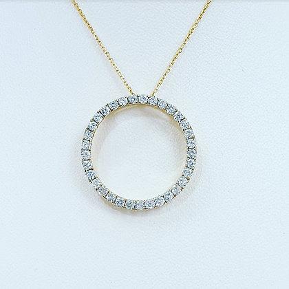 Circle of life diamond necklace