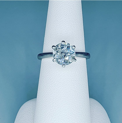2.00ct Old European cut Diamond solitaire ring
