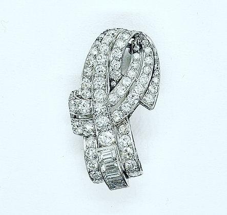 Art deco diamond pendant/brooch