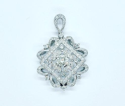Art deco style diamond pendant