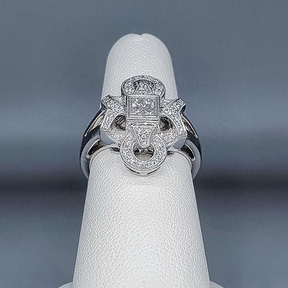 Art deco inspired cluster ring