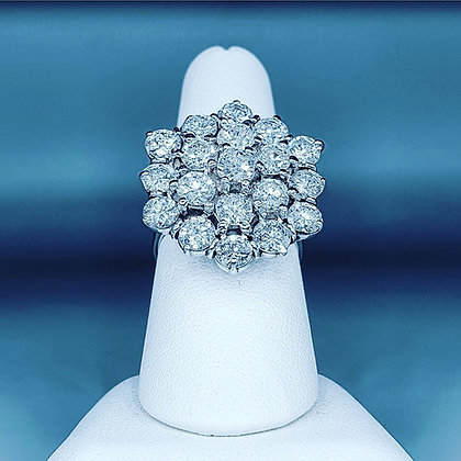 6.30ct diamond cluster ring