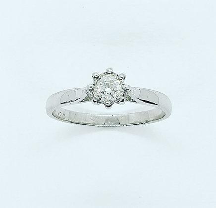 Diamond 0.20ct solitaire ring