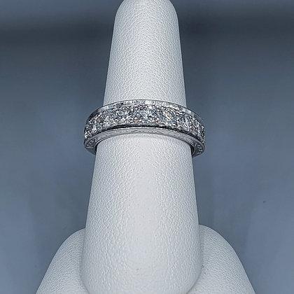 Diamond nine stone ring