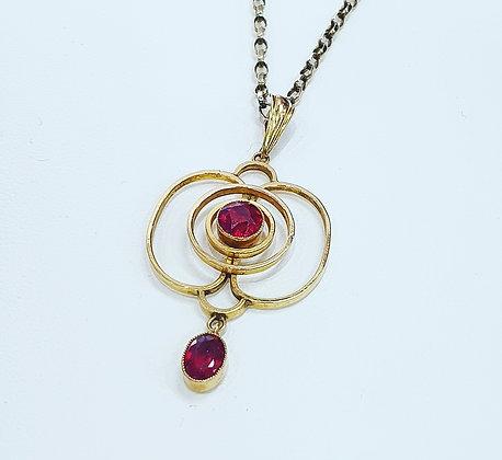 Edwardian garnet necklace