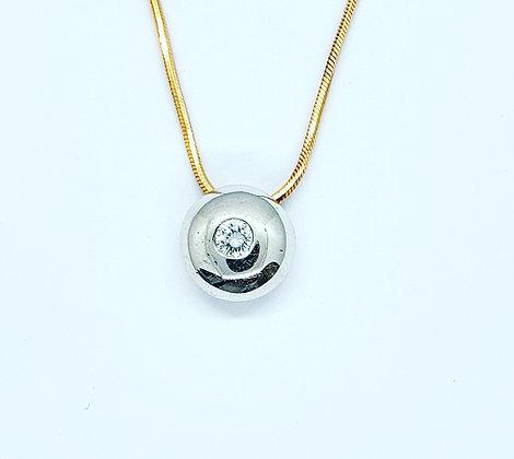 Diamond disk necklace
