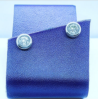 Diamond solitaire earrings 1.30ct