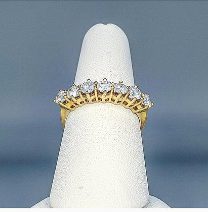 Diamond seven stone ring