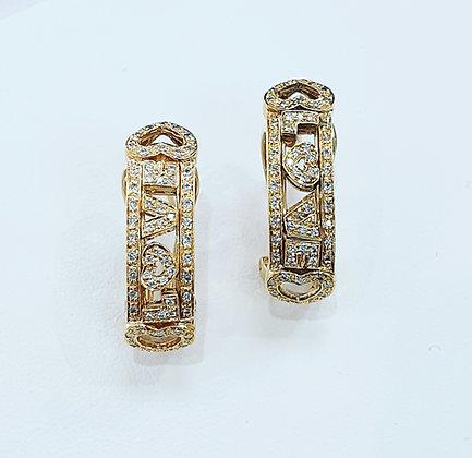 """Diamond """"love"""" earrings"""