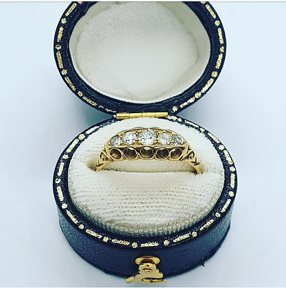 Vintage diamond five stone