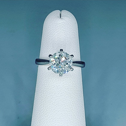 1.85ct Old European cut Diamond solitaire ring