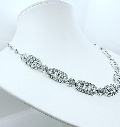 Art deco style diamond collar