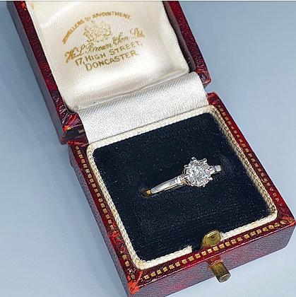 Antique diamond solitaire ring