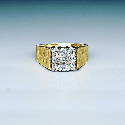 Vintage diamond signet ring