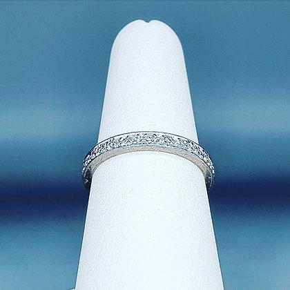 Art deco diamond full eternity ring
