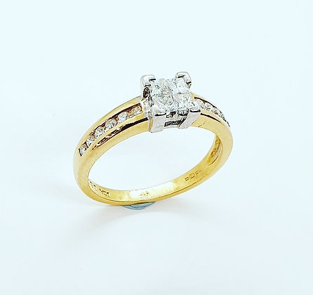 Diamond invisi-set ring