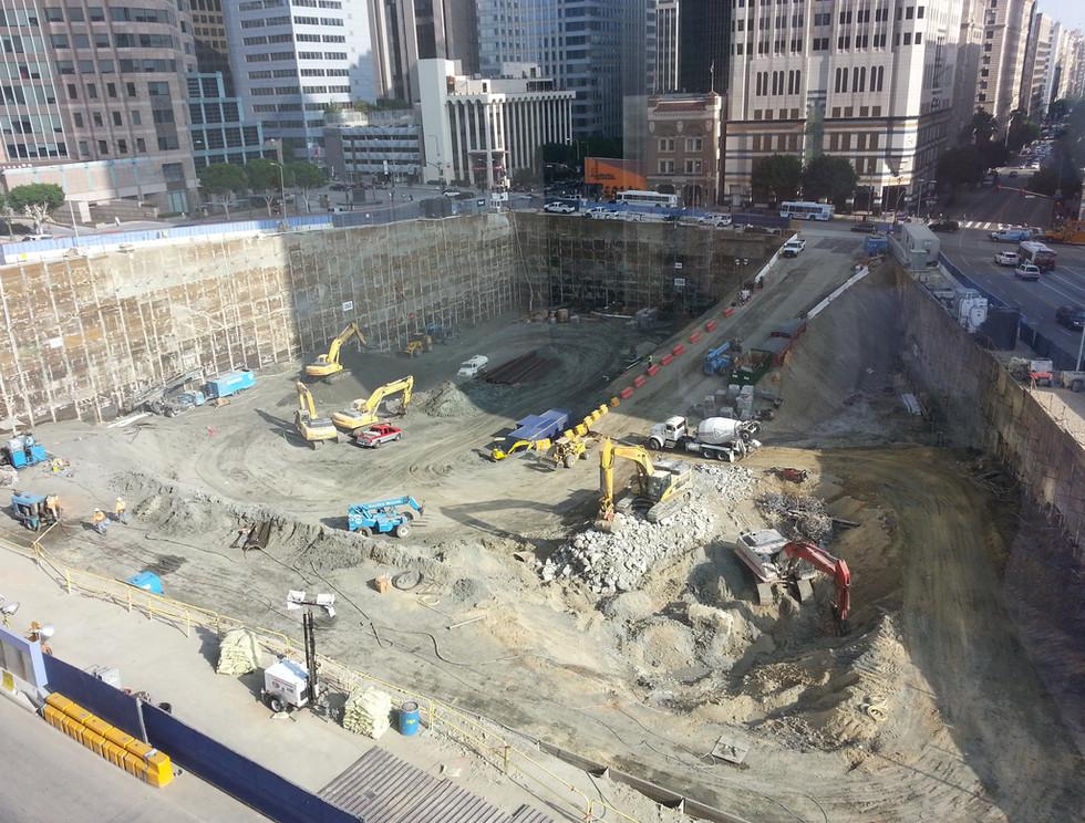Wilshire Grand Excavation Progress