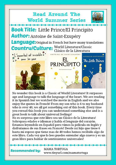 Read Aroun th World, El Principito, The Little Prince