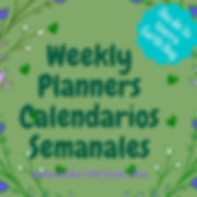 weekly planners Calendarios Semanales.jp