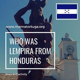 Lempira, Honduras, craft, activity, bilingual