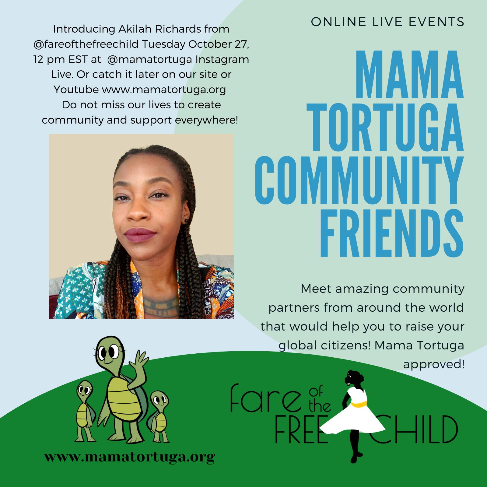 Mama Tortuga IG LIve 22 @FarefortheFreechild