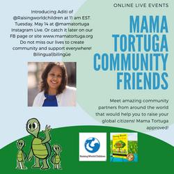 Mama Tortuga IG LIve 9 Raising World Chi