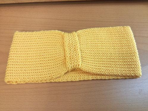 Fascia adulto lana merino extrafine gialla