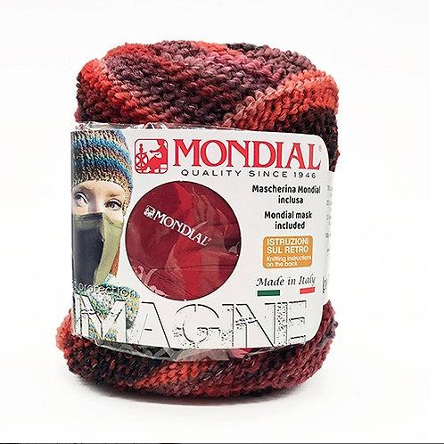 """""""Imagine"""" con mascherina in abbinamento al colore del filato"""