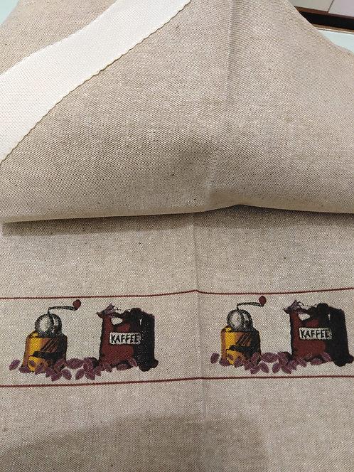 Strofinaccio in lino con tela aida da ricamare