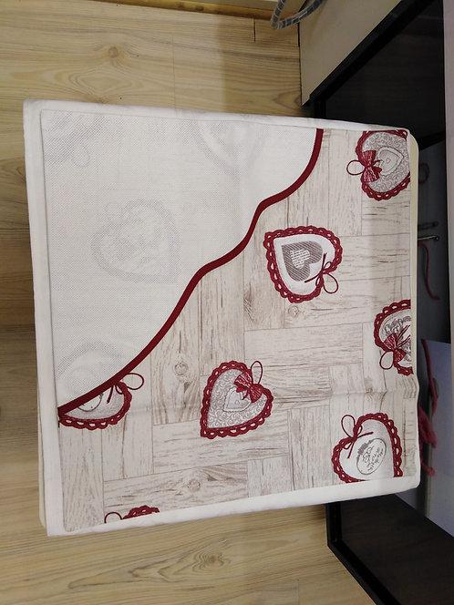Copri cuscino con cerniera e tela aida cm 42 x 42