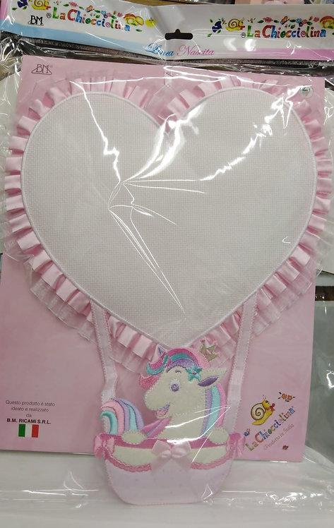 Coccarda nascita cuore / unicorno