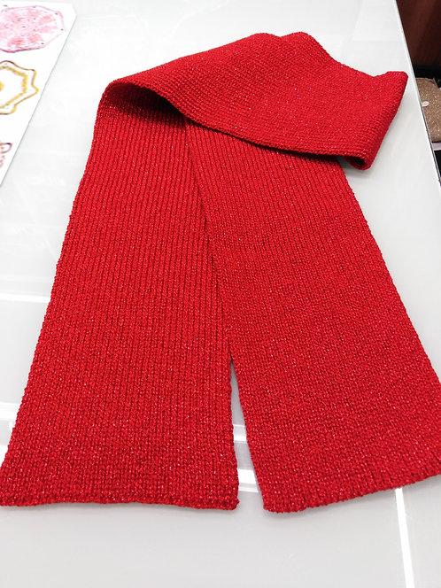Sciarpa lame' col. Rosso cm 138x15
