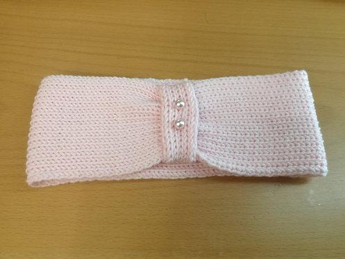 Fascia bambina dai 2 anni in su rosa con perle