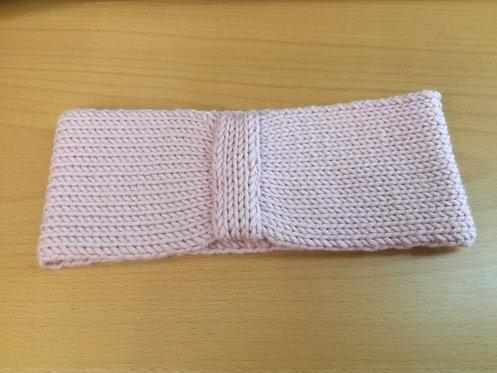 Fascia adulto lana merino extrafine color rosa antico