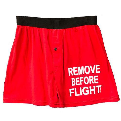 Boxer Shorts, Remove Before Flight