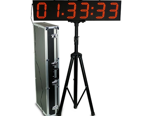 LED Clock Double sided with Tripod/Case/Remote