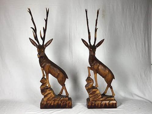 Wooden Buck Statue