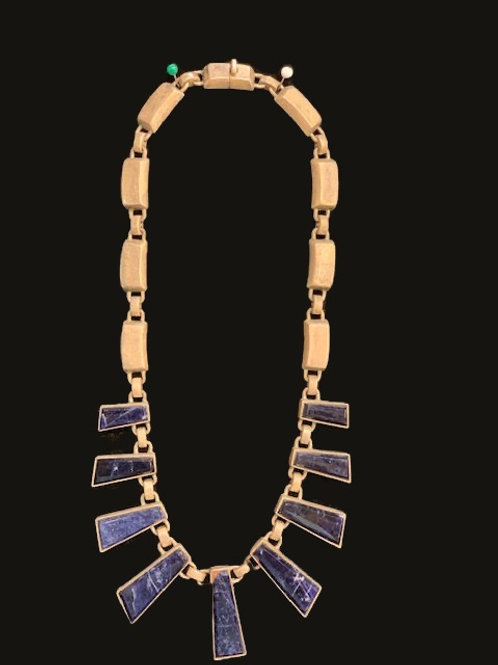 Sterling Lapis Necklace