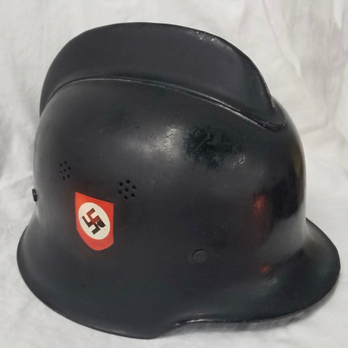 WWII German Police Helmet - no liner - partial paint restored