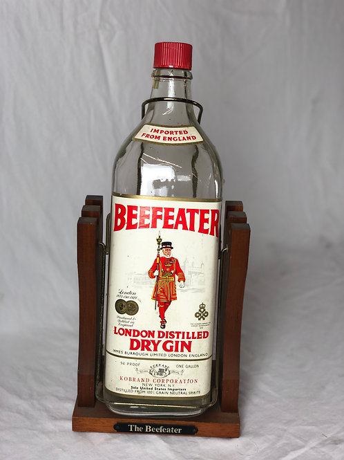 Large Beefeater Bottle on Pouring Stand