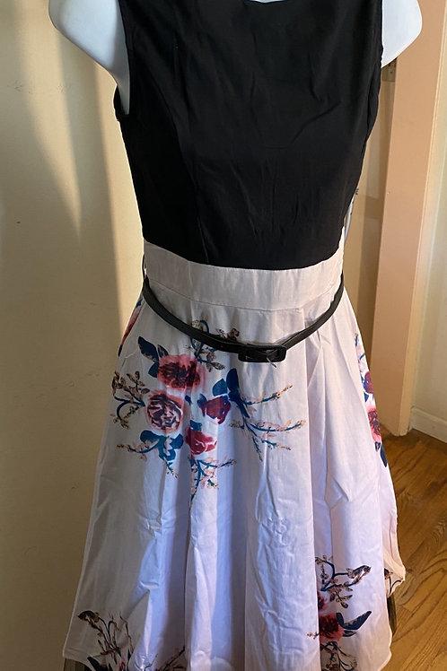 BLACK & PINK DRESS W/FLOWERS