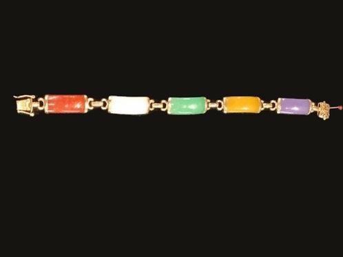 14kt 5 jade bracelet