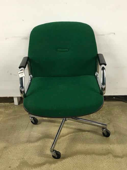 Green Office Chair - Hard-Shell Back