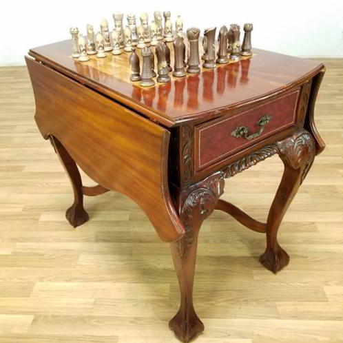Antique chess game table