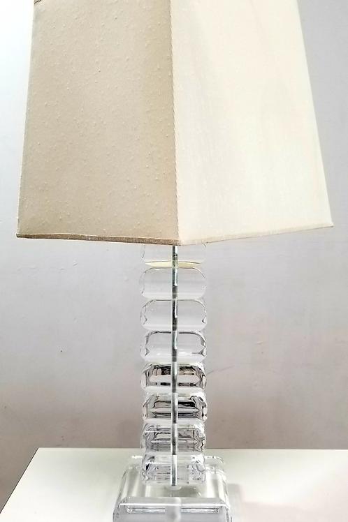 mid century vintage lucite lamp